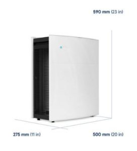Best Air Purifier for Hair Salon - Blueair Classic 480i Air Purifier with HEPASilent Technology and DualProtection Filters